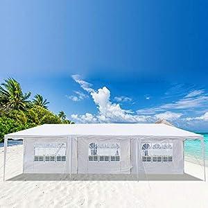 CHENSHJI Tenda da Sole per Esterno Gazebo Padiglione 8 Walls Shelter H-6.2FT Aggiornamento Baldacchino della Tenda da… 4 spesavip