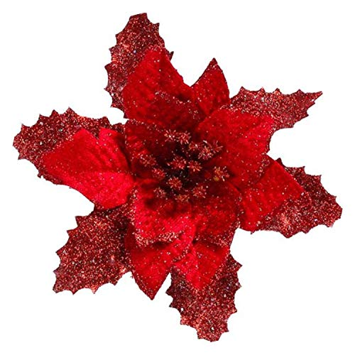 2018 Artificial Flowers Wedding Decoration DIY Halloween Or Christmas Tree Ornament Christmas Ornament Bowknot,Red