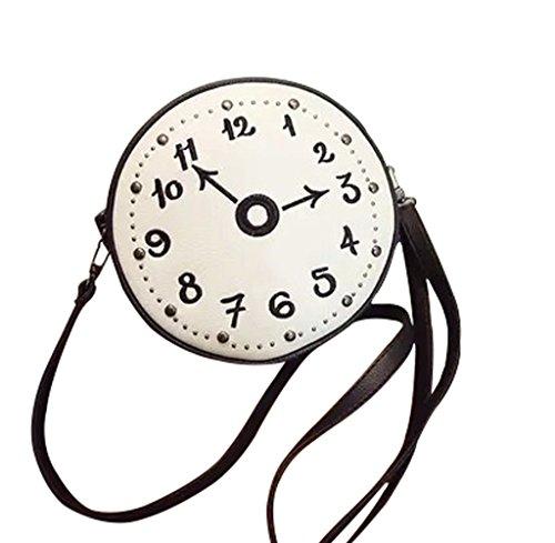 Skyflying Women's Shoulder Messenger Bag Canvas Crossbody Day Bag (White)