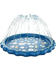 "LANXU Splash Pad, 67"" Sprinkler for Kids, Educational Toddler Outdoor Toys, Outdoor Water Toys Fun for Babies Toddlers Children Kids Boys Girls"