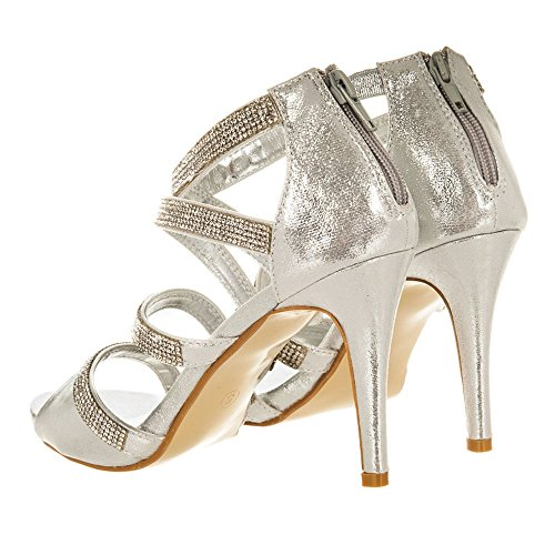 Shoes Donna Silver Diva Peep toe Miss AZqpx