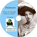 Delaware History & Genealogy on DVD - 74 books, Ancestry, Records, Family