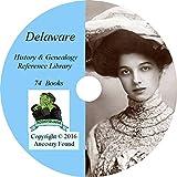 Delaware History & Genealogy on DVD - 74 books, Ancestry, Records, Family