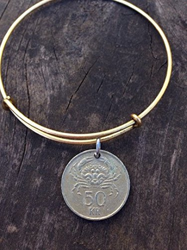 Iceland 50 kronur expandable style wire bangle bracelet