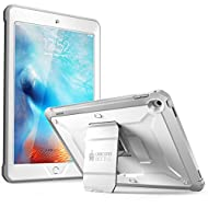 New iPad 9.7 2017 case, SUPCASE [Heavy Duty] [Unicorn Beetle PRO Series] Full-body Rugged Protective Case with Built-in Screen Protector & Dual Layer Design for Apple iPad 9.7 inch 2017 (White/Gray)