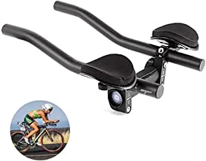 DSRong TT Handlebar Aero Bars Bicycle Rest Handlebar Bike Aluminium Alloy Arm Rest Handlebar Triathlon Aero Bicycle Tri Bars Relaxlation Handlebars for Most Bike