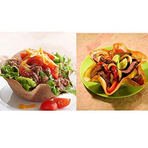 TXIN Nonstick Tortilla Pan Set, Taco Salad Bowl Makers Tortilla Shell Makers, Set of 4 by TXIN (Image #5)