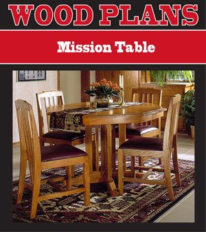 MISSION DINING TABLE WOODWORKING PAPER PLAN PW10050 - Indoor ...