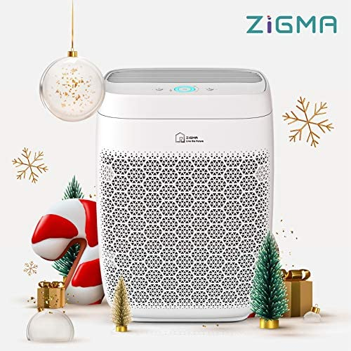 Air Purifier, Zigma Smart WiFi Air Purifier for Large Room as much as 840 ft², H13 True HEPA 5-in-1 Air Purifiers for Home w/Voice Control for Dust, Pollen, Pets Hair, Odor, Smoke, Air Cleaners for Living Room, Aerio-300 FILTER Included