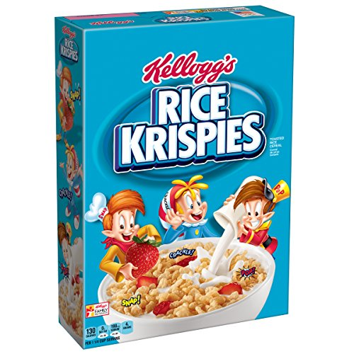 Rice Krispies Cereal, 12-Ounce Boxes (Pack of 4)