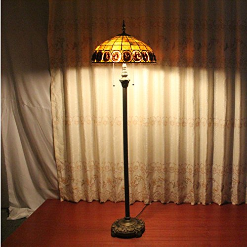 Tiffany Scale - ALUS- 16 inch Tiffany scales flake creative living room bedroom den foreign trade handmade glass floor lamp