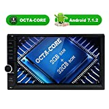 Octa Core 2GB 32GB Android 7.1 Car Stereo – Double Din Bluetooth 4.0 Radio – Support Fast Boot, GPS Navigation, WiFi, MirrorLink, Backup Camera, AUX, USB/SD, OBD2, DVR, Subwoofer