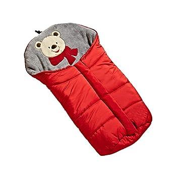 Lvbeis Cochecito De Bebé Saco De Dormir TéRmico Saco Al Aire Libre Swaddle Wrap Manta Anti-Kicking Sleeping Nest,Red: Amazon.es: Deportes y aire libre