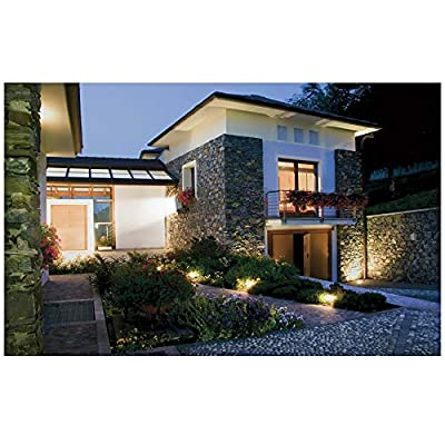 GLW 12V Landscape Lights 10W Low Voltage Waterproof Outdoor Spotlights IP65 Waterproof Garden Lights,3000K Warm White [8 Pack]