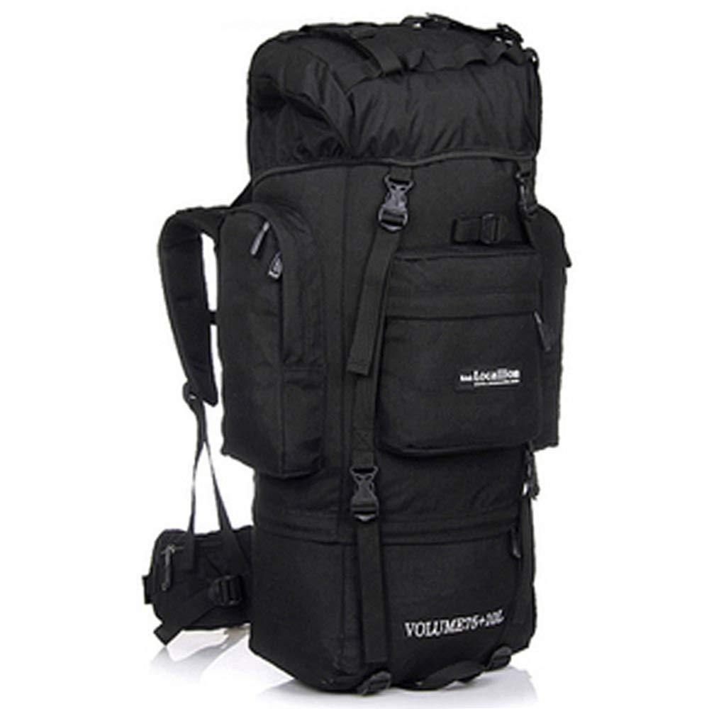 サイクリングバックパック 多機能防水内部フレームバックパックハイキング旅行キャンプバックパック用戦術ハイキングトレッキング旅行85 l (Color : Black, Size : 63*33*25cm) B07TDJ66ZN Black 63*33*25cm