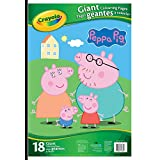 Crayola Peppa Pig Giant Colouring Pages, Gift for Boys and Girls, Kids, Ages 3,4, 5, 6 and Up, Holiday Gifting, Travel, Arts and Crafts