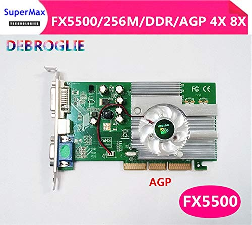 256mb Ddr Agp Graphics Card - ShineBear The FX5500 256M AGP Graphics Card AGP4X 8X Upgrade is Preferred, Stronger Than FX5200 ATI9550 - (Cable Length: Other)