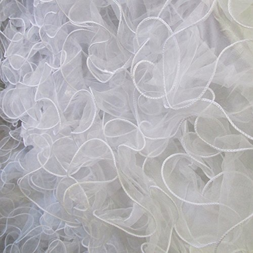 Ruffle Taffeta Fabric 58 / 60 inches width sold by the yard White