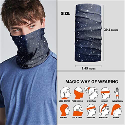 Neck Gaiter Face Mask,Reusable Face Cover Scarf,Summer Cooling Breathable Lightweight Bandana for Men Women