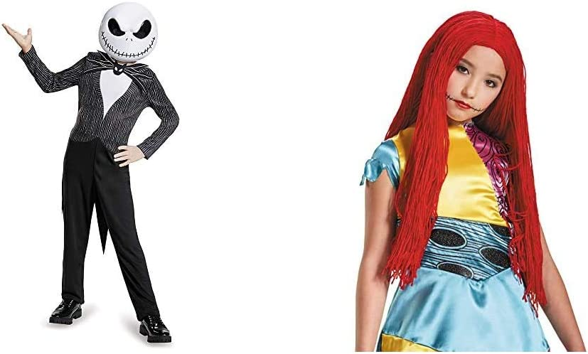 Disney Jack Skellington Nightmare Before Christmas Boys Costume /& Girls Sally Wig Standard
