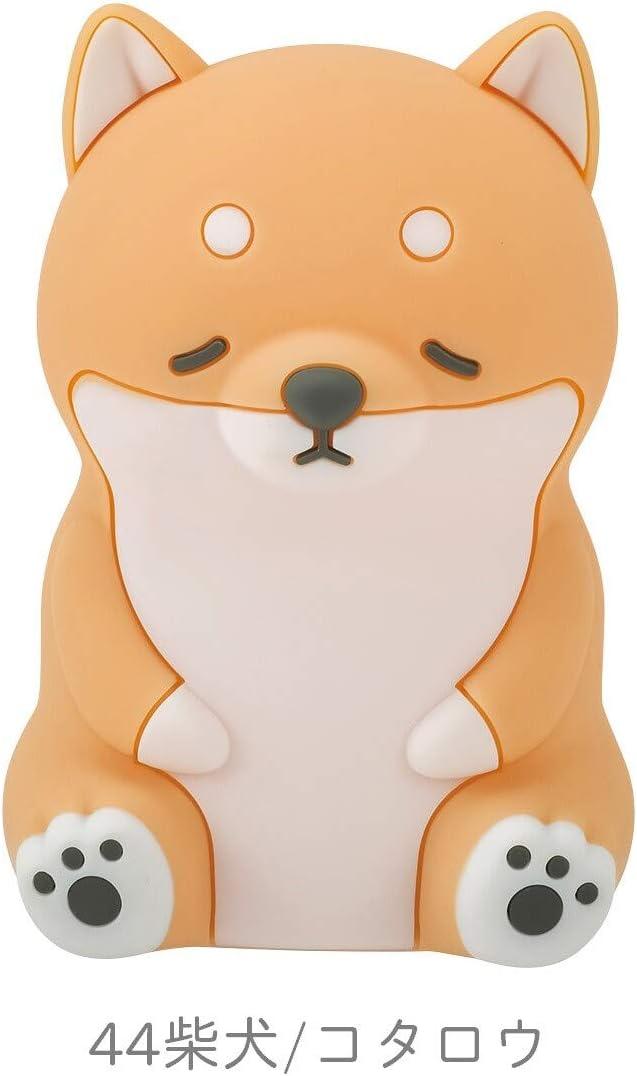 Animals Desk Lamp Series, Sleepy Animal Tabletop Lamp for Children, Soft Silicone, 15cm, Shiba Inu Dog 61049-44