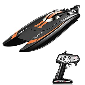 Tobeape Remote Control Boat for Pool & Outdoor Use, RC Racing Boat with Remote Control, High-Speed Series RC Boats for Adults & Kids-Blue