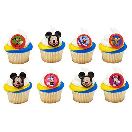 Mickey Mouse Clubhouse Cupcake Topper Rings - Set