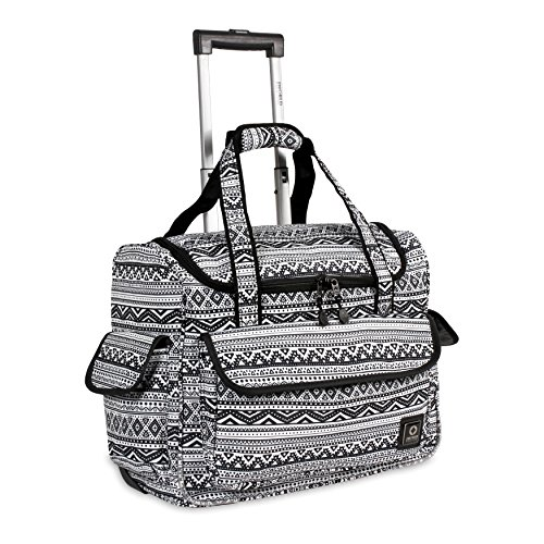 - J World New York Kids' Donna Rolling Tote Travel, TRIBAL, One Size