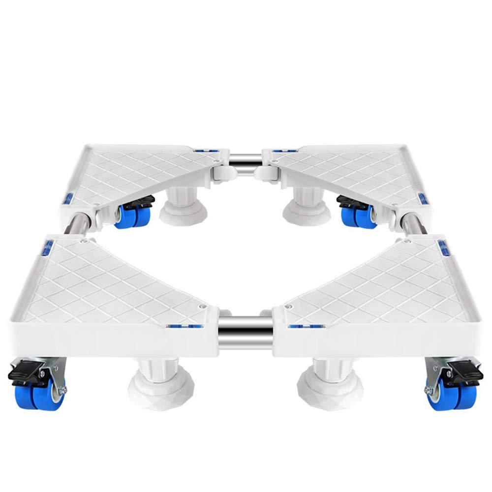 4つのロックホイール付き可動式調節可能ベース、洗濯機、冷蔵庫、電子レンジ用トレイなどの高さ調節可能なブラケット   B07H59SVXJ