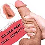 Realistic Dildo 8.27 inch with Soft Design for Female Masturbation,Lifelike Skin Huge Penis with Strong Suction Cup for Women G-spot