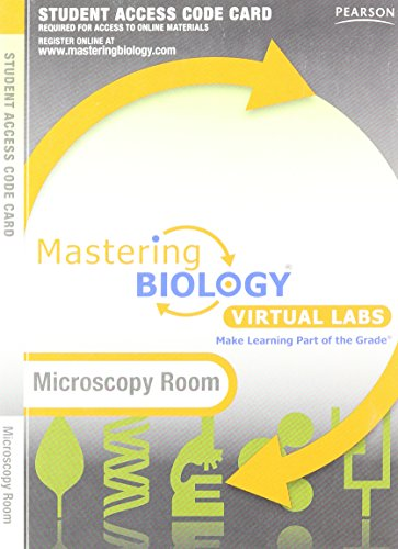 Mastering Biology without Pearson eText for -- Virtual Lab Microscopy Room -- Standalone Access Card