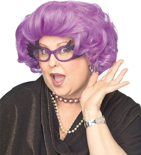 Rubie's The Dame Wig, Purple, One ()