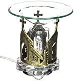 StealStreet SS-GC-MG-639B Decorative Pewter Church with Cross Electric Oil Aromatherapy Burner