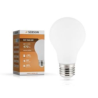 LED Birne E27 6W Filament 810 Lumen Glühbirne LEUCHTMITTEL GLÜHLAMPE WARMWEISS!