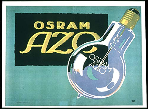 WholesaleSarong Osram AZO (Electric Light Bulbs) ca. 1910 Vintage Art Poster Wall Decals Art and Posters