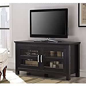 """Walker Edison 44"""" Coronado TV Stand Console, Black"""