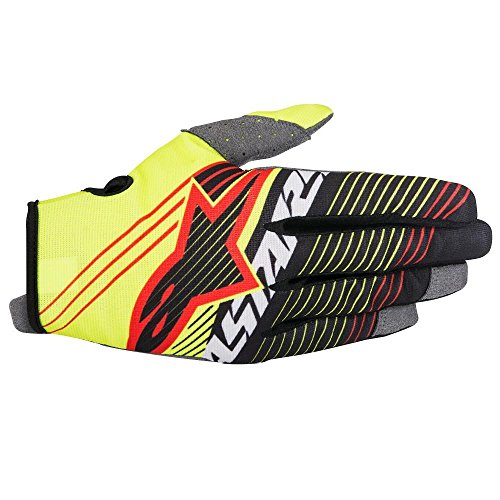 - Alpinestars Unisex-Child Youth Radar Tracker Gloves (Yellow/Black, Small)