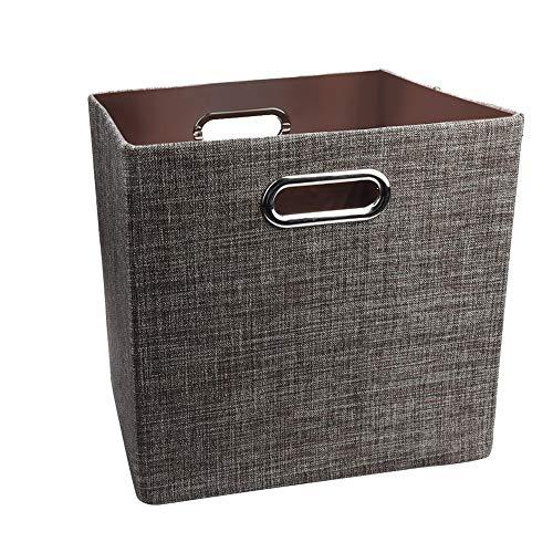 (Super Bally Fashion Linen Foldable Storage Unit Organization Locker Fabric Toy Storage Box 4)