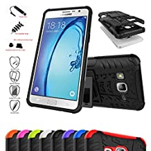 Asus Zenfone 2 Laser 5.5 Case,Mama Mouth Shockproof Heavy Duty Combo Hybrid Rugged Dual Layer Grip Cover with Kickstand For Asus Zenfone 2 Laser 5.5 ZE550KL(With 4 in 1 Free Gift Packaged),Black