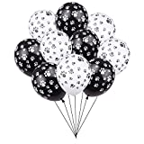 24PCS Dog Paw Prints 12 Inch Latex Balloons,for Paw Patrol Birthday Party, Puppy Party, Dog Animal Rescue Events