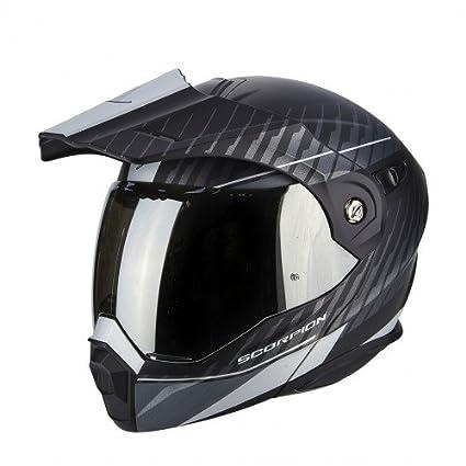 Scorpion casco moto adx-1 dual opaco nero-argento l
