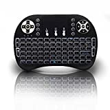 Backlit Mini Keyboard, 2017 New Model Globmall 2.4Ghz Portable Wireless i8 Keyboard with Touchpad mouse, Rechargeable Battery for Raspberry Pi, Mac, Linux, IPTV, Android KODI TV Box, Windows