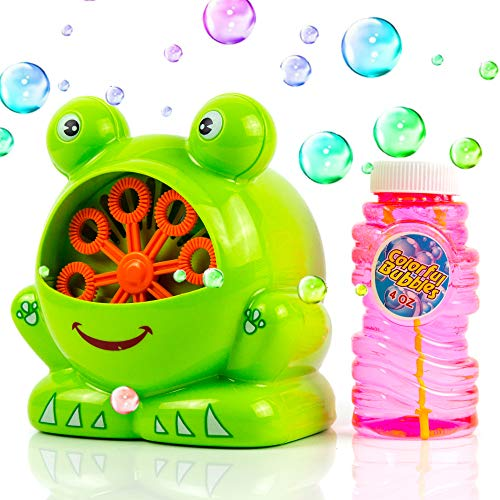 Toysery Frog Shaped Bubble Machine | Countless Colored Bubbles | Easy to Use | Perfect for Any Occasion | Strong and Durable | Hours of Entertainment for Kids]()