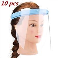 pl/ástico Ligero Las Gotas Transparente Ajustable para Evitar la Saliva GUXJ Visera 5Pcs Protectoras para la Cara Azul el Polen y el Polvo