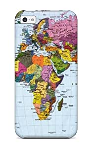8295784K71877461 5c Scratch-proof Protection Case Cover For Iphone/ Hot Beautiful Komar World Map5713 Phone Case