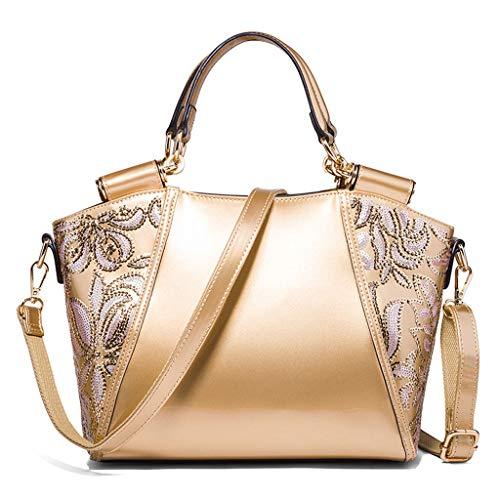 Métalliques Perles Messenger broderie sac Mesdames Noble PU Lady Lxf20 Portable bandoulière fourre sac sac à tout CaZ0qw