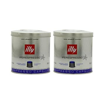 Illy Caffe Lungo Iperespresso 21 Capsules, Medium Roast, 4.6 Ounce (Pack of 2