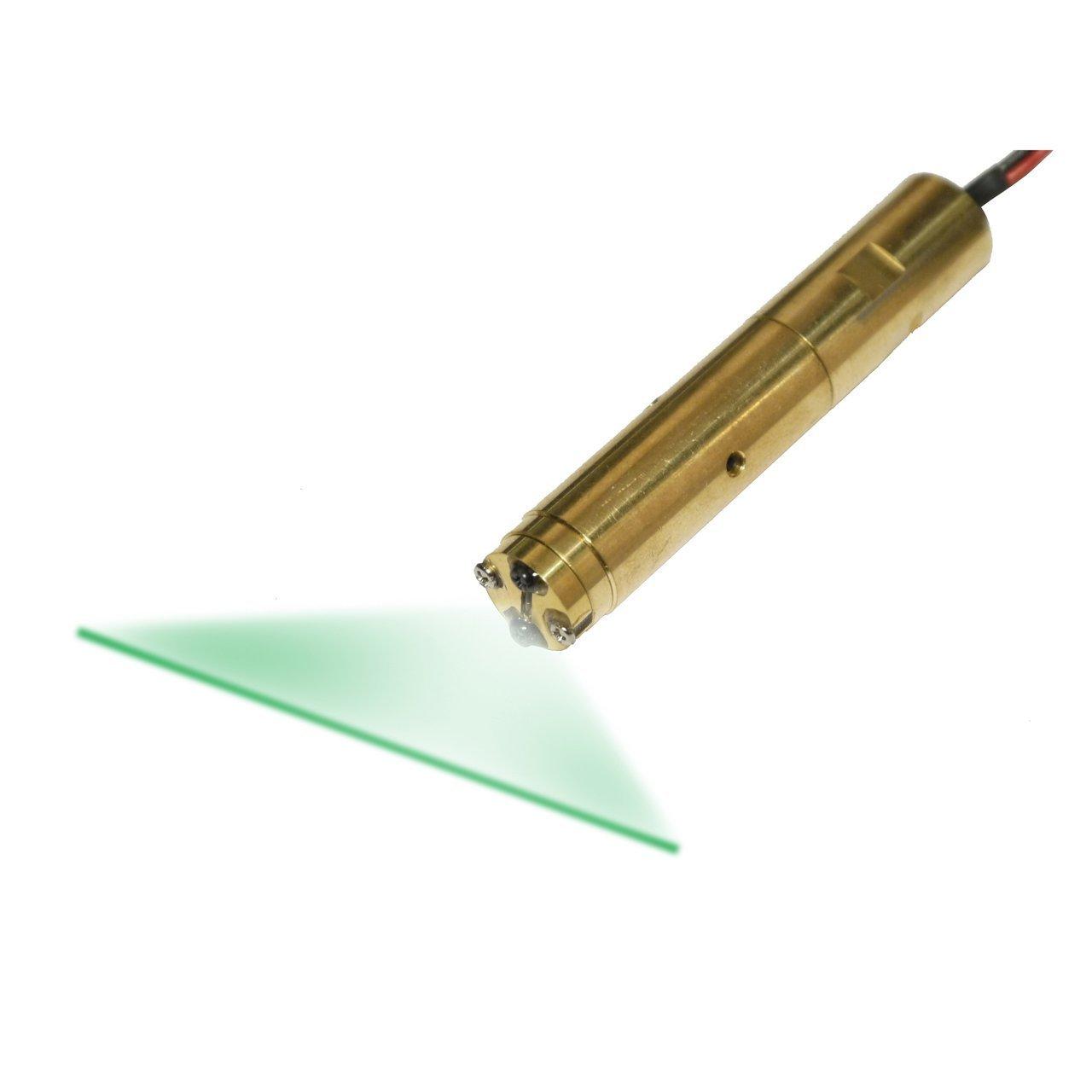 Quarton Laser Module VLM-532-46 LPT (GREEN LINE LASER) Laser line accuracy: 20'' (+/- 1mm @10m)