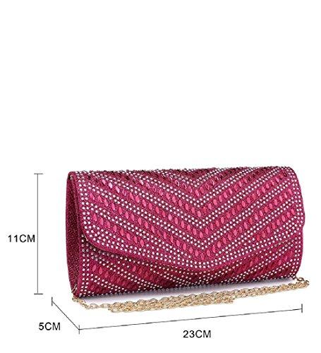 Nude Handbag Evening Bag Glitter Diamante ME68024 Ladies Purse Envelope Women's Party Clutch 1xwzqaA