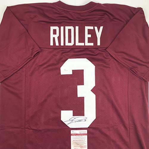 8c5b969d663 Autographed/Signed Calvin Ridley Alabama Maroon College Football Jersey JSA  COA